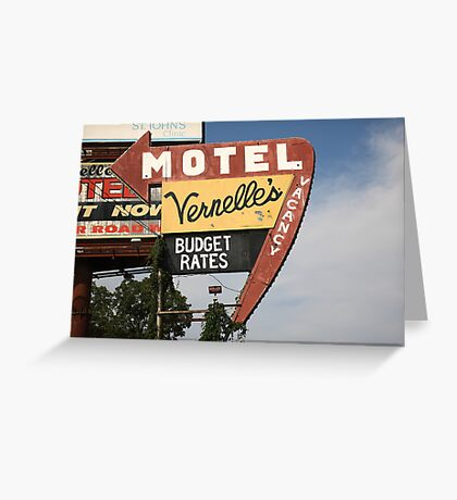 Route 66 - Vernelle's Motel Greeting Card