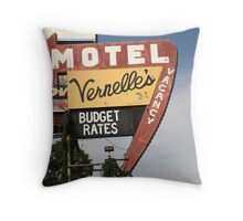 Route 66 - Vernelle's Motel Throw Pillow
