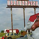 Route 66 - Mule Trading Post by Frank Romeo