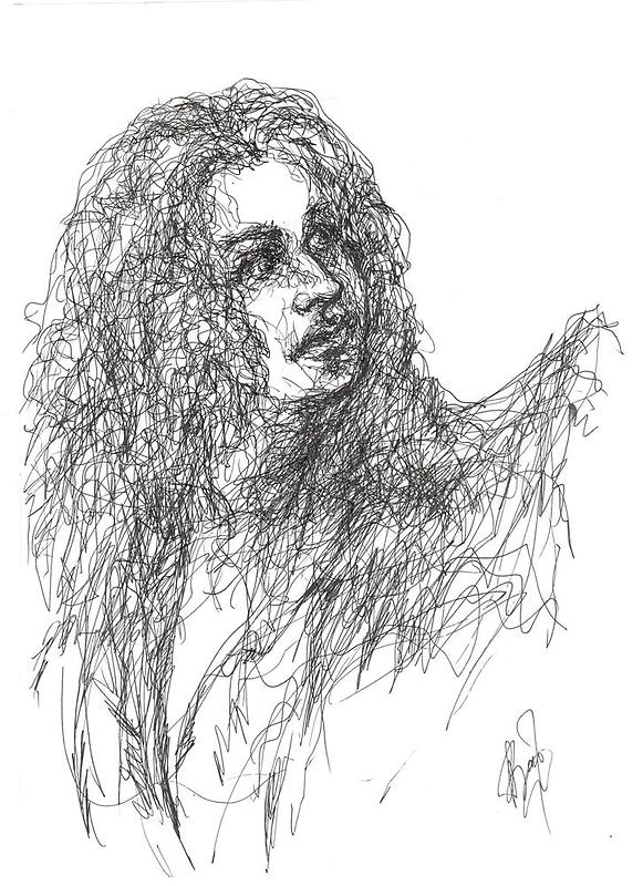 imaginary girl with long hair by Anastasia Zabrodina
