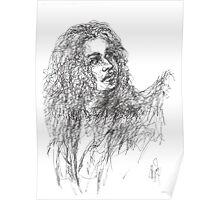 imaginary girl with long hair Poster