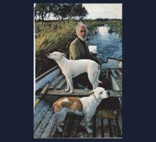 Beard Man Dogs Boat One Piece - Short Sleeve