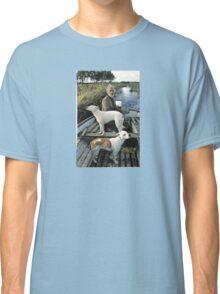 Beard Man Dogs Boat Classic T-Shirt