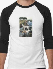 Beard Man Dogs Boat Men's Baseball ¾ T-Shirt