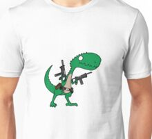 Dino with Guns Unisex T-Shirt