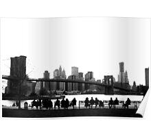 Brooklyn Bridge Admirers Poster
