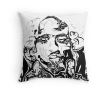 Liquid Tupac Throw Pillow