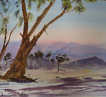 Twilight in the Grampians. by Kay Cunningham