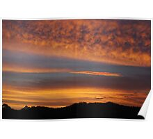 Sunset over Mt warning Poster