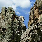 George On The Rocks - Mt. Rushmore National Park, Pennington County, SD by Rebel Kreklow