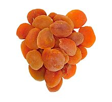 Dried apricots on a white background Photographic Print