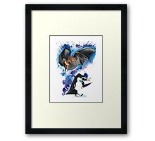 Batman and Penguin Framed Print