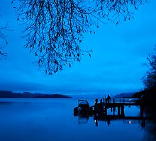 Photographers at Dawn, Kinloch NZ by Odille Esmonde-Morgan