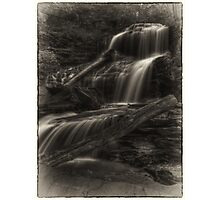 Shawnee Falls (faux vintage) Photographic Print