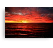 Sunset over Brighton beach Canvas Print