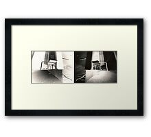 Pinhole Diptych Framed Print