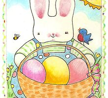 Easter bunny by paintpaintdraw