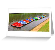 Captain Jolly's Paddle Boats Greeting Card