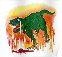 Teary T-rex Poster