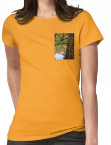 Serenity Prayer Tree and Pond Autumn 2 Womens Fitted T-Shirt