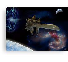 Downjump near the Antennae Galaxies. Canvas Print