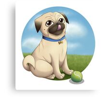 Pug Playtime Canvas Print