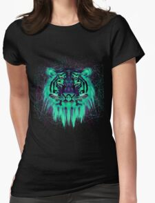 Space Tiger Womens Fitted T-Shirt