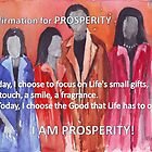 Affirmation for PROSPERITY by Maree Clarkson