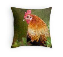 Fancy Fowl Throw Pillow