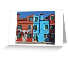 Burano-washing day Greeting Card