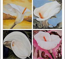 Four White Lilies by Kim Bender