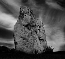 Avebury Stone in Black and White by Samantha Higgs