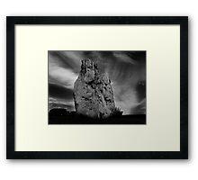 Avebury Stone in Black and White Framed Print