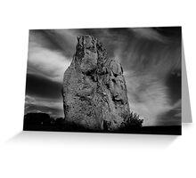 Avebury Stone in Black and White Greeting Card