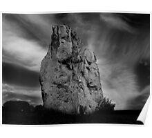 Avebury Stone in Black and White Poster