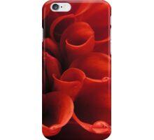 Red Dahlia close-up iPhone Case/Skin