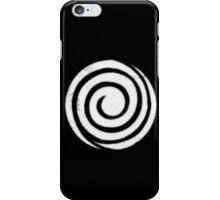 Cautionary Band Logo (white) iPhone Case/Skin