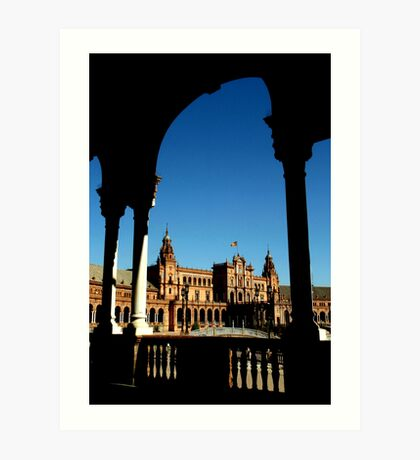 Plaza Espana, Sevila, Spain Art Print