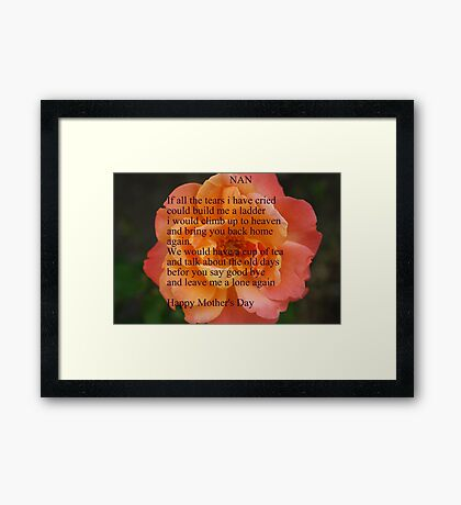 A Mother's Wish Framed Print