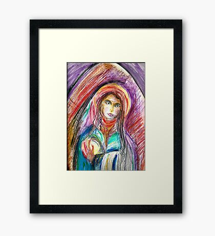 Lady of the Arch Framed Print