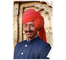Palace Attendant, Jaipur Poster