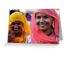 Shoppers, Jodhpur Greeting Card