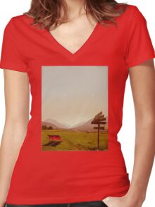 Vintage Holiday Women's Fitted V-Neck T-Shirt