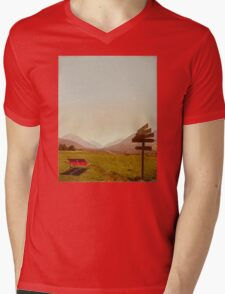 Vintage Holiday Mens V-Neck T-Shirt