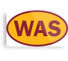 Washington - WAS - football - oval sticker and more Metal Print