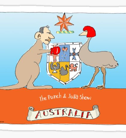 Australia: Punch and Julia Show Sticker