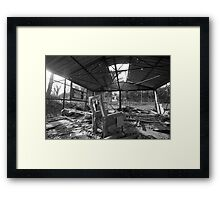 Empty at the end Framed Print