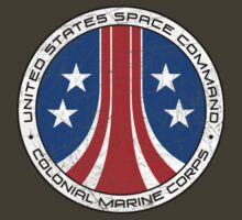 United States Colonial Marine Corps Insignia - Aliens - Dirty by createdezign
