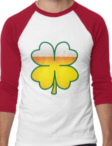 Beer Leaf Clover Men's Baseball ¾ T-Shirt