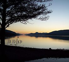 Winter sunset over Loch Ness by caledoniadreamn